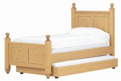 Madison Twin Post Bed with Trundle Bed by Lang - Lang Furniture - Headboard & Footboard