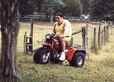 Andre the Giant on Honda Big Red