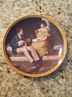 Knowles Pondering On The Porch Rockwell's Rediscovered Women Collector Plate on Etsy, $22.00