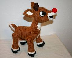Amigurumi Reindeer Free Pattern : Rudolph reindeer baby hat pattern by courtney wiche baby hats