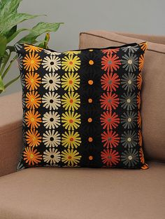 outdoor patio chair cushions walmart CLICK VISIT link above to see more - Cushions – Update Your Sofa With New Cushions Cushion Embroidery, Hand Embroidery Dress, Embroidered Cushions, Crochet Cushions, Hand Embroidery Designs, Applique Designs, Bed Cover Design, Pillow Design, Diy Cushion