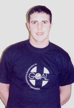 Irish soccer star, John O'Shea supporting GOAL