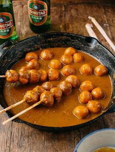 These Hong Kong style curry fish balls are a beloved street food super easy to prepare at home. You can serve them as an appetizer, or with rice as a meal!