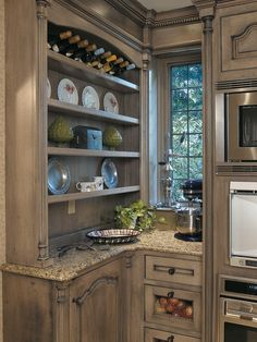 distressed wooden cabinets for kitchen