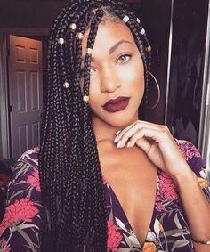 30 idées coiffures BOX BRAIDS qui déchirent ! - Curly's Bloom Hair Spa