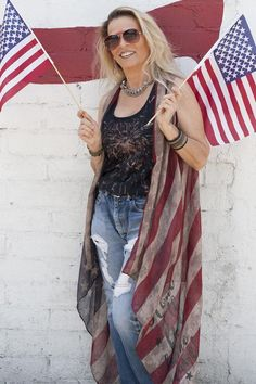 THANK YOU VETS American Flag Vest - Southern Girl Apparel® Southern Girl Outfits, Southern Girls, Graphic Tank Tops, Red White Blue, Girl Power, American Flag, Jeans And Boots, Looks Great, Vest