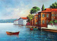 Akrilik Boya Çalışmaları - Hobbies paining body for kids and adult Watercolor Landscape, Landscape Paintings, Watercolor Paintings, Landscapes, Pictures To Paint, Art Pictures, Photos, Turkish Art, Z Arts