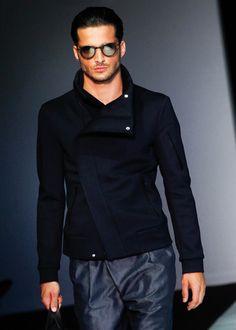Armani // assymetical jacket #menswear                                                                                                                                                                                 More