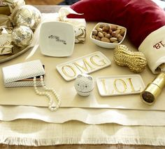 OMG and LOL Trays | Pottery Barn