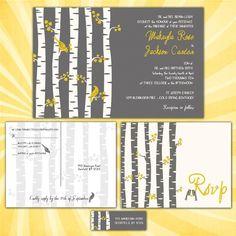 Birch Tree Wedding Invitation