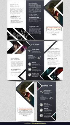 Explore more than ready to use brochure design templates for pamphlets, proposals, reports, and manuals in a variety of styles. Brochure Indesign, Template Brochure, Brochure Layout, Flyer Template, Brochure Sample, Brochure Trifold, Brochure Ideas, Creative Brochure, Flyer Layout