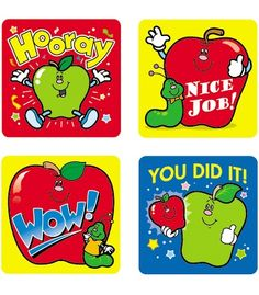 Apples Motivational Stickers - Carson Dellosa Publishing Education Supplies #CDWishlist