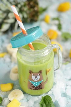 Healthy After-School Snacks: Kid friendly green smoothies