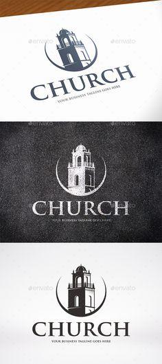 Church Tower Logo PSD Template • Download ↓ https://graphicriver.net/item/church-tower-logo-template/16989624?ref=pxcr