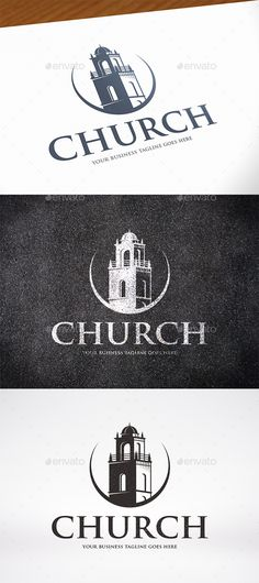 Church Tower Logo   PSD Template • Download ↓ https://graphicriver.net/item/church-tower-logo-template/16989624?ref=pxcr