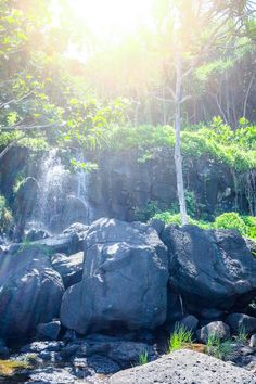 Kauai North Shore Travel Diary - Travel Like a Local - Kauai North Shore Activities - The Stripe. (Waterfall)