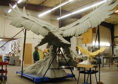 Sandy Scott Art: April 2013 Flight Feathers, Bird Artists, Thing 1, Wooden Animals, All Birds, Zbrush, Clay Art, Sculpture Art, Amazing Art