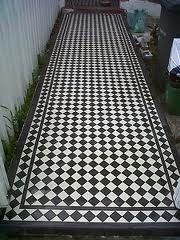 tessellated tiles black and white