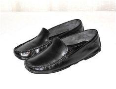 Martin Dingman Black Leather Driving Moc Loafer Slip On Made in Italy Men's 9.5 #MartinDingman #DrivingMoccasinLoaferSlipOn