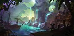 concept art for Epic Mickey Wii game - A.J. Trahan