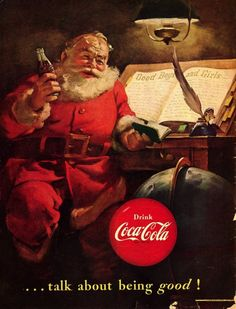 This fine vintage advertisement of a 1951 Coca Cola ad is in near mint condition and measures approx. x 13 This ad depicts a great picture of Santa Claus holding a bottle of Coca Cola.