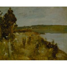 """""""The River,"""" John Henry Twachtman, between 1883 and 1885, Oil on canvas, 18 1/4 x 22 1/4"""", Terra Foundation for American Art."""