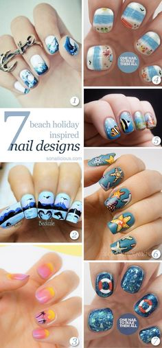 Beach Nails - the best 7 nail designs! click for details. #nailart