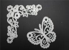 Butterfly flower corner Metal Cutting Dies For Scrapbooking Stencils DIY Album Cards Decoration Embossing Folder Die Cutter(China (Mainland))