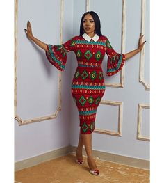 Hello beautiful ladies, Ankara gowns has made us understand the beauty of the Ankara fabrics. Ankara gowns are so beautiful and attractive. These ankara gowns are so sweet and charming. With these gowns, you would look so outstanding and unique. Trendy Ankara Styles, Ankara Dress Styles, Ankara Gowns, African Print Dresses, African Print Fashion, Africa Fashion, African Fashion Dresses, African Dress, African Prints