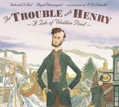 """Stunning illustrations distinguish this lively fictional portrait of Henry David Thoreau, a man whose simple yet extraordinary vision made history — and reminded us that """"heaven is under our feet as well as over our heads."""""""