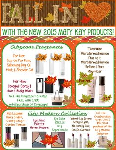 Fall in love with our products this Fall before the leaves really start to fall. http://www.marykay.com/tashaypratt Call or text 347-871-0284