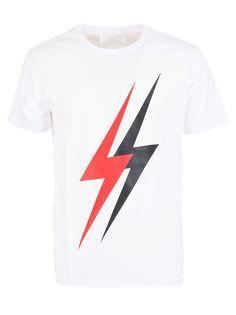 Neil Barrett Printed Thunder T-shirt In C