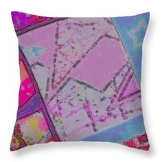 Bold Throw Pillow featuring the digital art Pastel Abstract Three by Caroline Gilmore