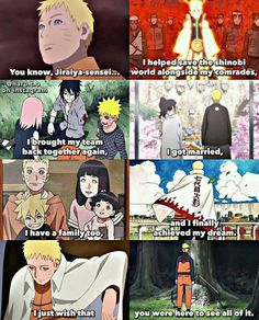 quotYou know Jiraya sensei I helped save the person Anime Naruto, Naruto Comic, Naruto Uzumaki, Naruto Sad, Naruto Sasuke Sakura, Manga Anime, Naruhina, Sasuke Sharingan, Shikamaru