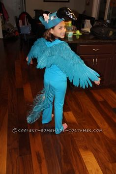 Coolest Blue Macaw (Jewel) Costume from the Movie Rio