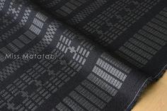 Japanese Fabric Kokka Tsumiki Dash Stripes - basket weave - metallic - D - 50cm