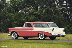 Performance Online Tumblr, Beautiful '56 #Chevy #Nomad #StationWagon⠀ ⠀... Chevrolet Bel Air, Chevy Nomad, Old Wagons, Station Wagon, Classic Cars, Automobile, Google Search, Vintage Cars, Hot Rods
