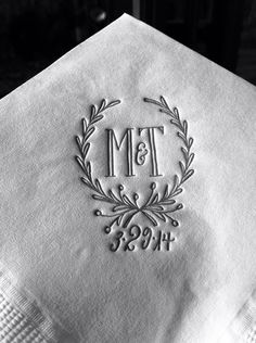 Personalized printed napkins with choice of ink and color on Etsy, $85.00