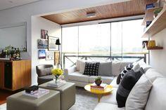 Apartamento R|C : Salas de estar modernas por Now Arquitetura e Interiores