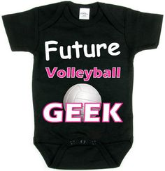 Future Volleyball Geek Pink Design Baby Shirt by FRISCOINK on Etsy
