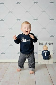 Mr ONEderful 1st Birthday Shirt Front And Back Design One Year Baby Boy