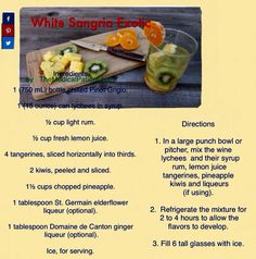 Delicious White Sangria Exotic.