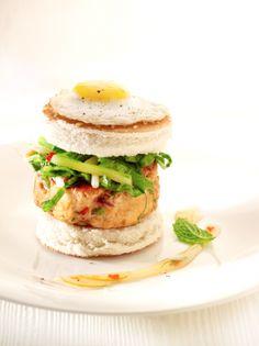 Thaise kipburger met munt
