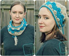 Layla Convertible Cowl crochet pattern by DivineDebris.com