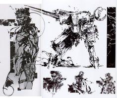 Metal gear solid artwork,Yoji Shinkawa