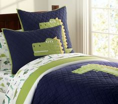 Pottery Barn Dino's Attack Bedding... LOVE this for Clayton's room when we move him to a big boy bed!