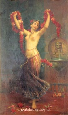 Belly dance painting