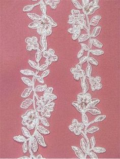 I think this would be a nice lace to use for the barefoot sandals I'm making to go with my wedding dress.