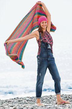 Lana Grossa XL-SCHAL California Print - FILATI Mützen & Accessoires No. 6 - Street & Beach - Modell 18 | FILATI.cc WebShop