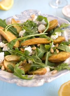 roasted new potato, rocket and goat cheese salad